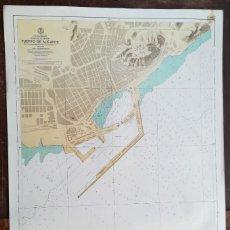 Mapas contemporáneos: PUERTO DE ALICANTE, MAPA CARTA NÁUTICA / NAVAL, MAR MEDITERRÁNEO, 69 X 103 CM (Nº 286A). Lote 191190348