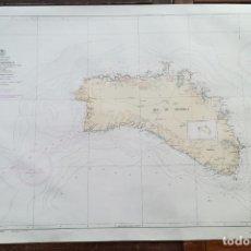 Mapas contemporáneos: ISLA DE MENORCA, MAPA CARTA NÁUTICA / NAVAL, MAR MEDITERRANEO, 102 X 67 CM (Nº 6A). Lote 191193208