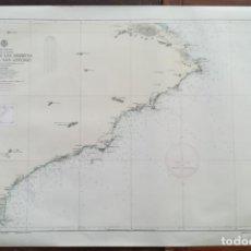 Mapas contemporáneos: DE CABO DE LAS HUERTAS A CABO DE SAN ANTONIO, MAPA CARTA NÁUTICA / NAVAL, 104 X 70 CM (Nº 833). Lote 191195861