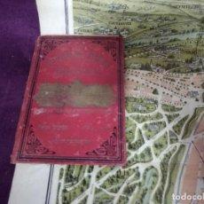 Mapas contemporáneos: ANTIGO MAPA DE PARÍS EN LIBRO MODERNISTA, NOUVEAU PARIS MONUMENTAL, PPIOS XX. Lote 191470066