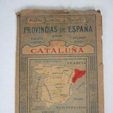 Mapas contemporáneos: MASPAS BLONDEL LA ROUGERY - PROVINCIAS DE ESPAÑA, CATALUÑA - MAPA EN COLOR - AÑO 1927. Lote 192110500