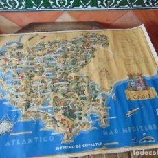 Mapas contemporâneos: MAPA DE LA PROVINCIA DE CADIZ CON SUS PUEBLOS LOPEZ RUBIO MIDE 100 X 70 CM. Lote 193221521