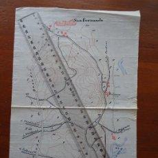 Mapas contemporáneos: MANUSCRITO, FINES S XIX, SAN FERNANDO, RIBAS DE JARAMA, MADRID. Lote 193334981