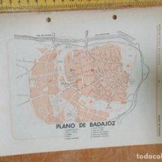 Mapas contemporáneos: VISTA PLANO MAPA O CALLEJERO DE LA CIUDAD DE BADAJOZ - ANTIGUA PUBLICACION AÑOS 50/60 APROX. Lote 193684661