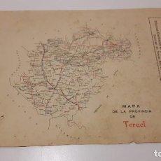 Mapas contemporáneos: MAPA VINTAGE TERUEL CAJA DE AHORROS. Lote 194153898
