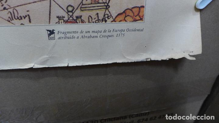 Mapas contemporáneos: FRAGMENTO DE UN MAPA DE LA EUROPA OCCIDENTAL ATRIBUIDO A ABRAHAM CRESQUES EN 1375 EDITADO POR SALVAT - Foto 6 - 194157143