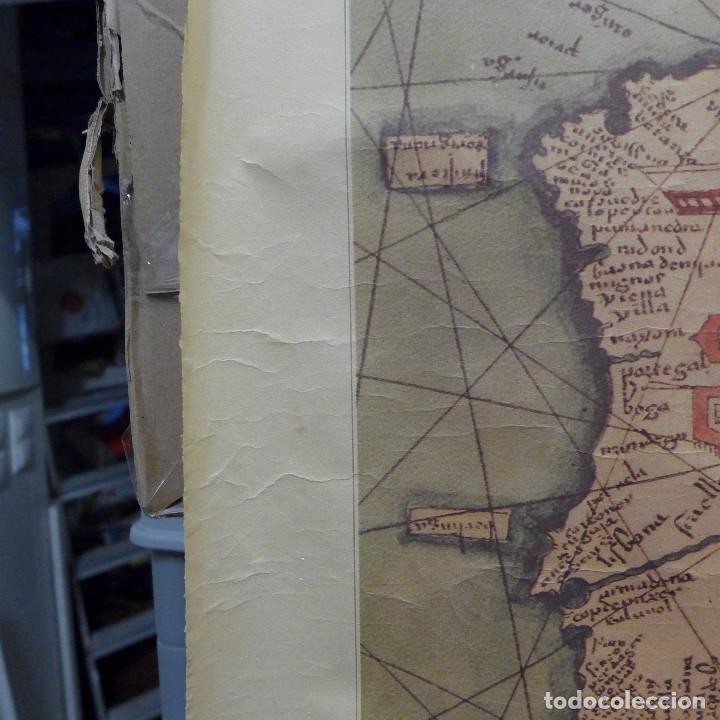 Mapas contemporáneos: FRAGMENTO DE UN MAPA DE LA EUROPA OCCIDENTAL ATRIBUIDO A ABRAHAM CRESQUES EN 1375 EDITADO POR SALVAT - Foto 8 - 194157143