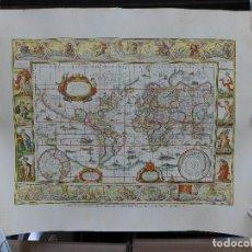 Mapas contemporáneos: MAPAMUNDI REPRODUCIDO DEL ATLAS MUNDIAL BLAEW. Lote 194167077