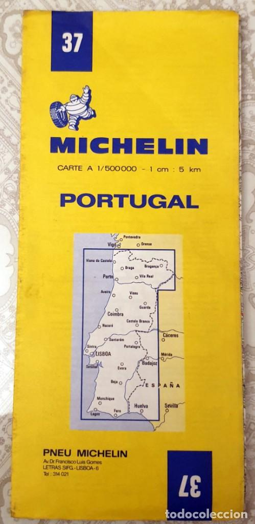 Mapas contemporáneos: Guide MICHELIN N°37 - CARTE ROUTIERE - PORTUGAL - 1981 - 1:500000 - Foto 1 - 194173537