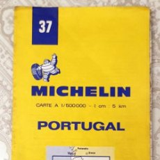 Mapas contemporáneos: GUIDE MICHELIN N°37 - CARTE ROUTIERE - PORTUGAL - 1981 - 1:500000 . Lote 194173537