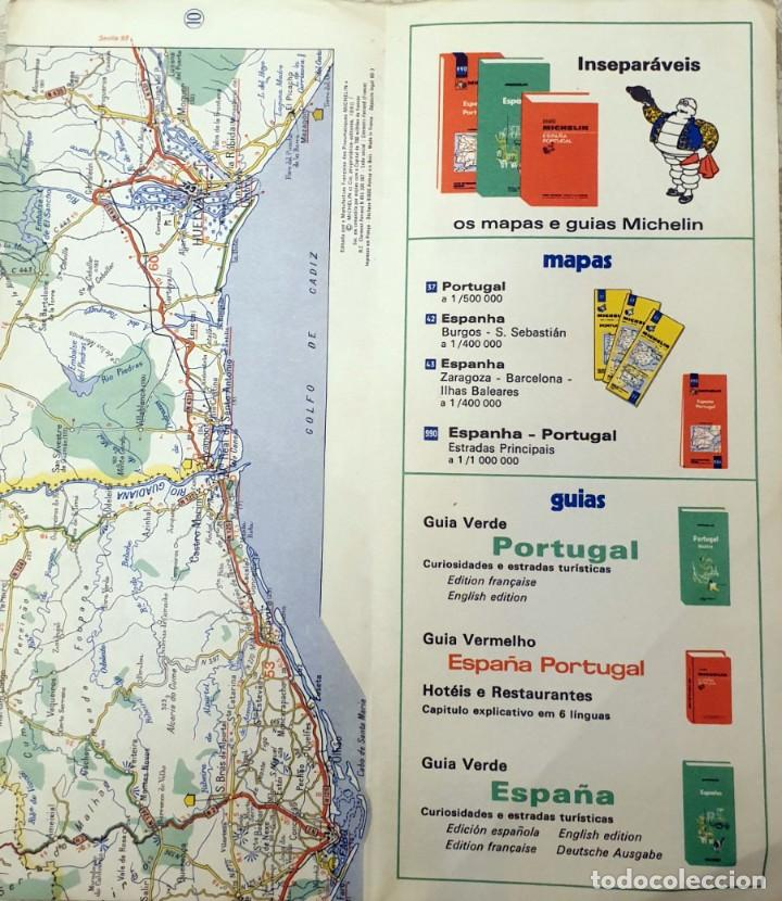 Mapas contemporáneos: Guide MICHELIN N°37 - CARTE ROUTIERE - PORTUGAL - 1981 - 1:500000 - Foto 3 - 194173537