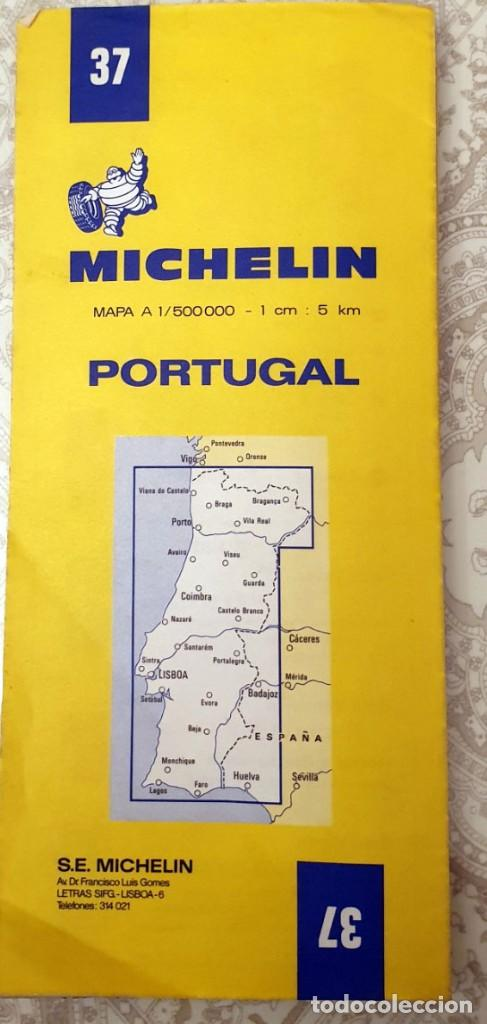 Mapas contemporáneos: Guide MICHELIN N°37 - CARTE ROUTIERE - PORTUGAL - 1981 - 1:500000 - Foto 4 - 194173537