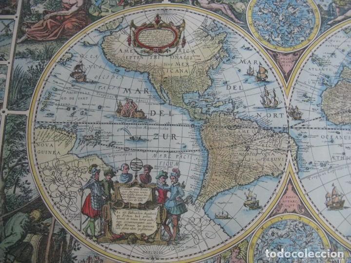 Mapas contemporáneos: GRAN MAPA MUNDI EN COLOR GRAN TAMAÑO Y MUCHOS DETALLES ENMARCADO - Foto 2 - 194196862