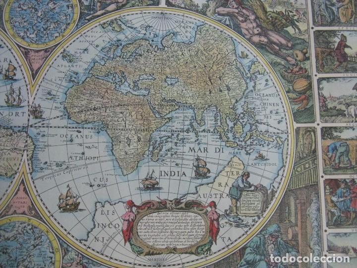 Mapas contemporáneos: GRAN MAPA MUNDI EN COLOR GRAN TAMAÑO Y MUCHOS DETALLES ENMARCADO - Foto 3 - 194196862