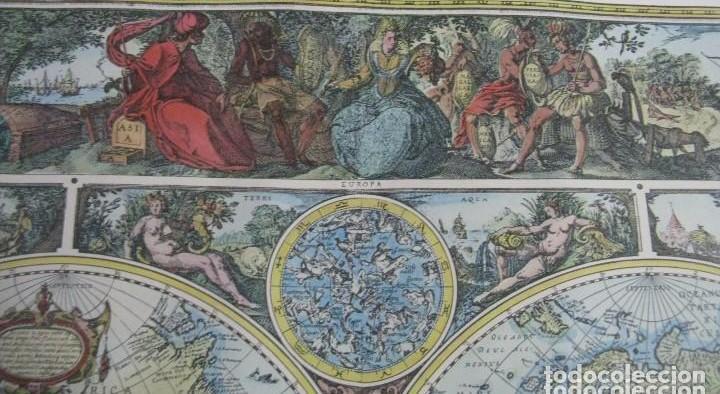 Mapas contemporáneos: GRAN MAPA MUNDI EN COLOR GRAN TAMAÑO Y MUCHOS DETALLES ENMARCADO - Foto 4 - 194196862