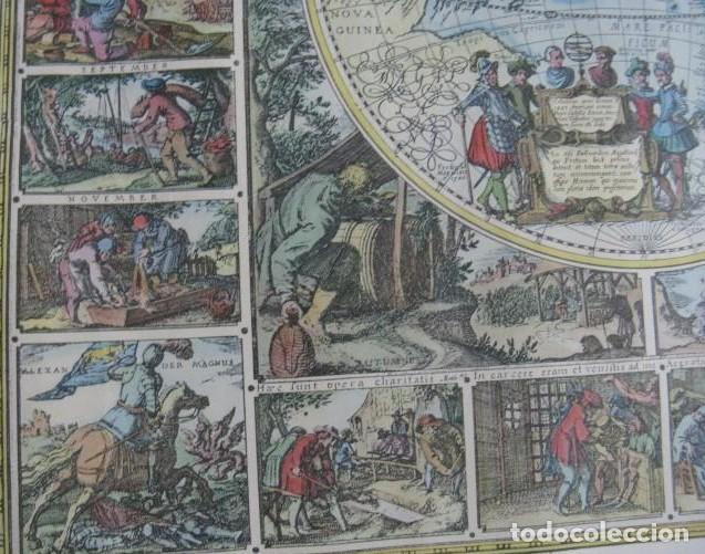 Mapas contemporáneos: GRAN MAPA MUNDI EN COLOR GRAN TAMAÑO Y MUCHOS DETALLES ENMARCADO - Foto 5 - 194196862