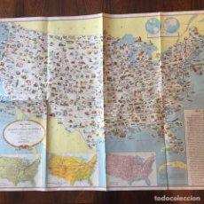 Mapas contemporáneos: MAPA ESTADOS UNIDOS USA. Lote 194198205