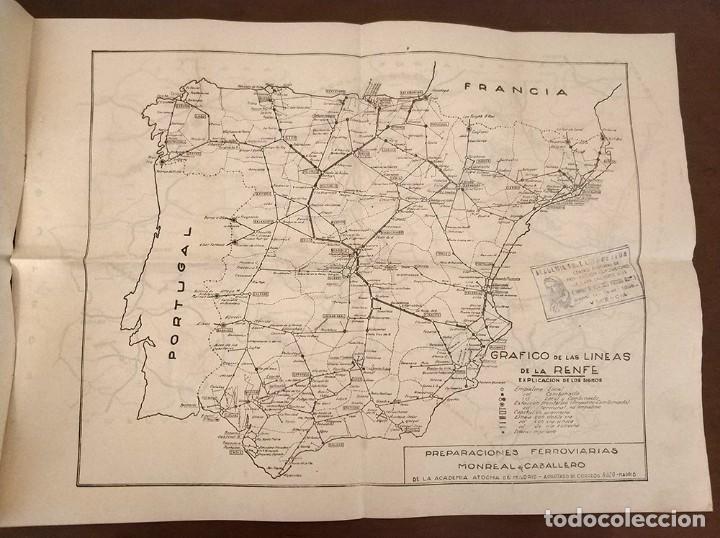 Mapas contemporáneos: 6 Antiguos mapas mudo de lineas RENFE preparaciones ferroviarias academia Atocha - tren - Foto 3 - 194210463