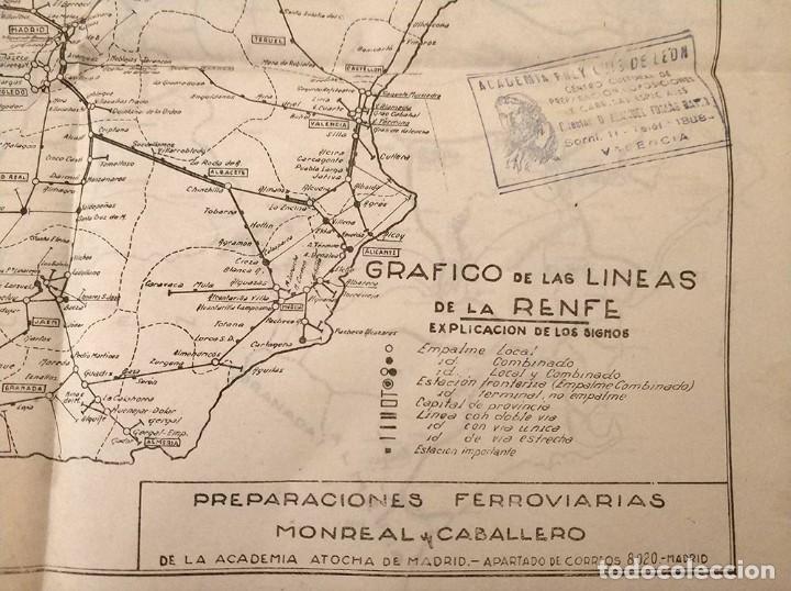 Mapas contemporáneos: 6 Antiguos mapas mudo de lineas RENFE preparaciones ferroviarias academia Atocha - tren - Foto 4 - 194210463