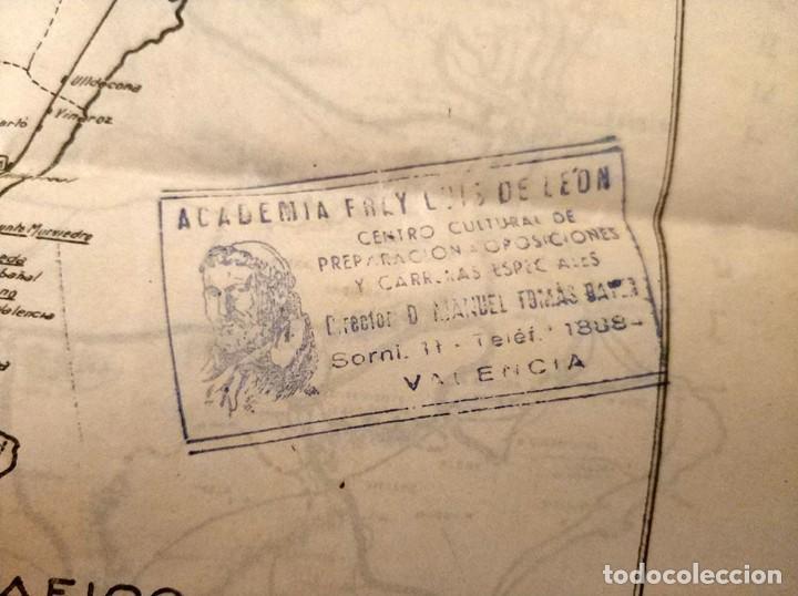 Mapas contemporáneos: 6 Antiguos mapas mudo de lineas RENFE preparaciones ferroviarias academia Atocha - tren - Foto 5 - 194210463