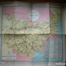 Mapas contemporáneos: MAPAS TURISTICOS PROVINCIALES - GUIPUZCOA SAN SEBASTIAN - EDITORIAL HERNANDO. 50CMX47CM.. Lote 194212901