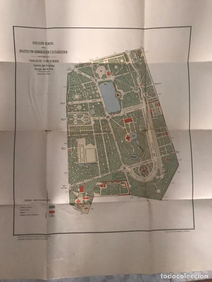 Mapas contemporáneos: Plano del Parque del Retiro. 1919 - Talleres del Instituto Geográfico. - Foto 2 - 194318707