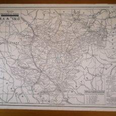 Mapas contemporáneos: ANTIGUO MAPA DE LA PROVINCIA DE TERUEL, 44X32CM. Lote 194386298