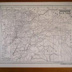 Mapas contemporáneos: ANTIGUO MAPA DE LA PROVINCIA DE GUADALAJARA, 40X28CM. Lote 194386536