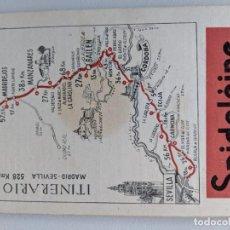 Mapas contemporáneos: ITINERARIO GRAFICOS ROGLAN - SPIDOLEINE - FICHA 45 - MADRID SEVILLA. Lote 194507505