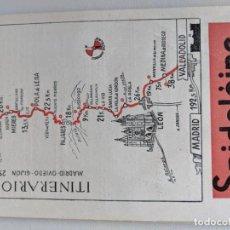 Mapas contemporáneos: ITINERARIO GRAFICOS ROGLAN - SPIDOLEINE - FICHA 46 - MADRID OVIEDO GIJON. Lote 194507593