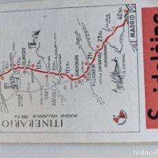 Mapas contemporáneos: ITINERARIO GRAFICOS ROGLAN - SPIDOLEINE - FICHA 48 - MADRID - VALLADOLID. Lote 194507710