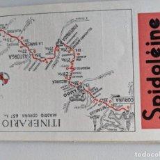 Mapas contemporáneos: ITINERARIO GRAFICOS ROGLAN - SPIDOLEINE - FICHA 49 - MADRID CORUÑA. Lote 194507770