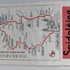 Mapas contemporáneos: ITINERARIO GRAFICOS ROGLAN - SPIDOLEINE - FICHA 51 - PAMPLONA HERNANI IRUN ARRAIZ. Lote 194507941