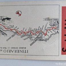 Mapas contemporáneos: ITINERARIO GRAFICOS ROGLAN - SPIDOLEINE - FICHA 53 - BILBAO OVIEDO. Lote 194508020