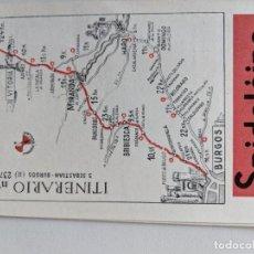 Mapas contemporáneos: ITINERARIO GRAFICOS ROGLAN - SPIDOLEINE - FICHA 57 - SAN SEBASTIAN - BURGOS. Lote 194508136