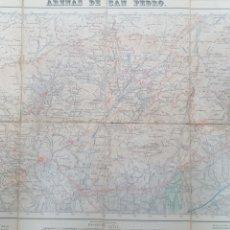 Mapas contemporáneos: MAPA TOPOGRAFICO ARENAS DE SAN PEDRO AVILA 578. 1950, 1ª EDICIÓN. ENTELADO,. Lote 194566575