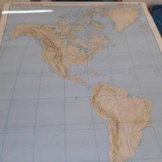 Mapas contemporáneos: MAPA AMERICA FISICA/POLÍTICA.. Lote 194611517