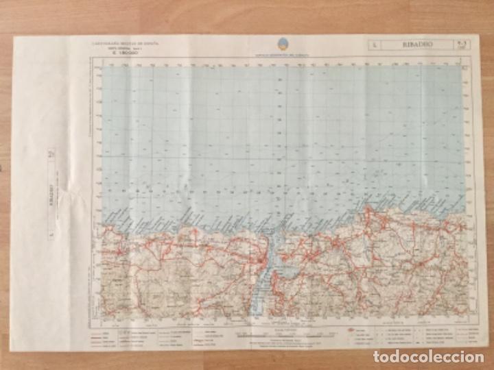 MAPA TOPOGRÁFICO RIBADEO. SERVICIO GEOGRÁFICO DEL EJERCITO (Coleccionismo - Mapas - Mapas actuales (desde siglo XIX))