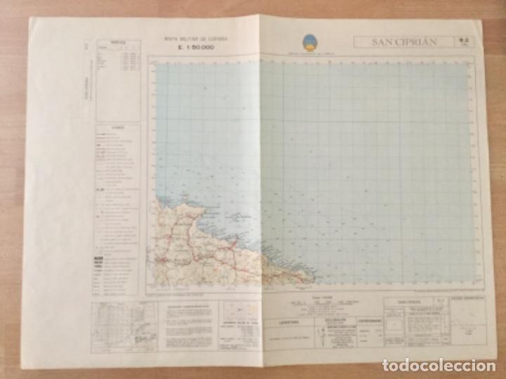 MAPA TOPOGRAFICO SAN CIPRIAN. SERVICIO GEOGRÁFICO DEL EJERCITO (Coleccionismo - Mapas - Mapas actuales (desde siglo XIX))