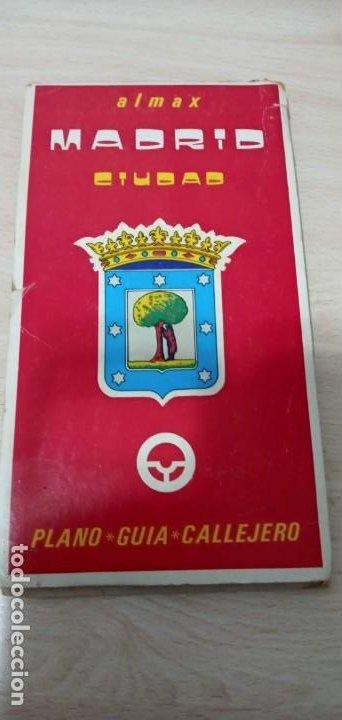 MAPA MADRID PLANO GUÍA CALLEJERO ALMAX 1979 (Coleccionismo - Mapas - Mapas actuales (desde siglo XIX))