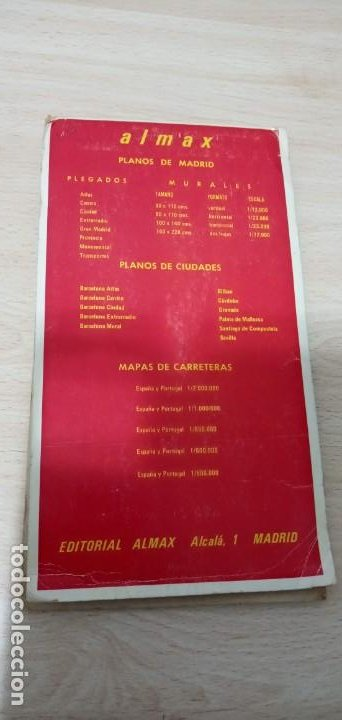 Mapas contemporáneos: Mapa Madrid Plano Guía Callejero Almax 1979 - Foto 2 - 194733211