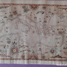 Mapas contemporáneos: MAPA MEDITERANEO ATLAS GIOBATTA CAVALLINI GENOVA MUSEO HISTORIA FLORENCIA . Lote 194752015