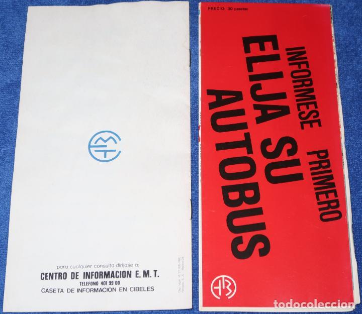 Mapas contemporáneos: EMT - Plano de la red (1982) - Guía de itinerarios (1983) - Foto 2 - 194886447