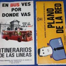 Mapas contemporáneos: EMT - PLANO DE LA RED (1982) - GUÍA DE ITINERARIOS (1983). Lote 194886447