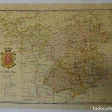 Mapas contemporáneos: MAPA *GIRONA* ENTELADO. MEDS: 369X472 MMS.. Lote 194949232