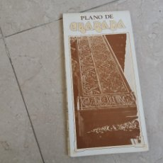 Mapas contemporáneos: ANTIGUO PLANO GRANADA SITUACIÓN DE LOS MONUMENTOS AÑO 1981. Lote 195019226