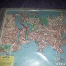 Mapas contemporáneos: ANTIGUO MAPA FISICO ESCOLAR DE ASIA,SALD TODA EUROPA Y PARTE AFRICA,MARCA RICO FIRENZE. Lote 195040875