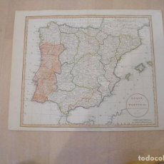 Mapas contemporáneos: MAP OF SPAIN AND PORTUGAL 1811. Lote 195123081