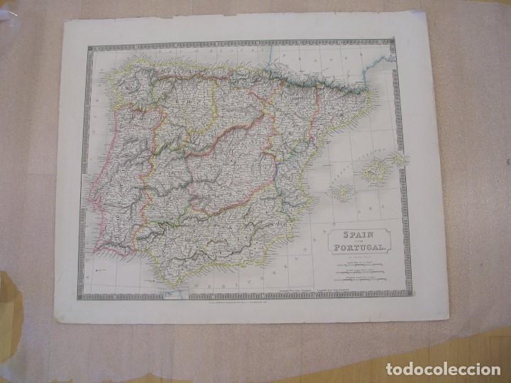 MAP OF SPAIN AND PORTUGAL 1822 (Coleccionismo - Mapas - Mapas actuales (desde siglo XIX))