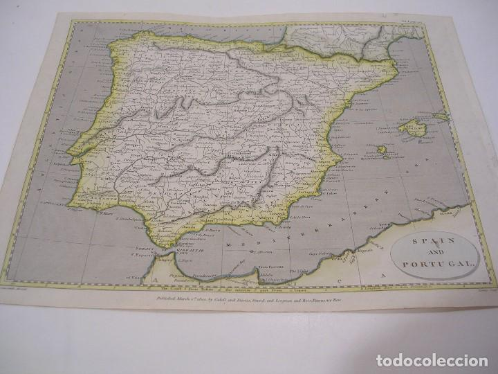MAP OF SPAIN AND PORTUGAL 1802 (Coleccionismo - Mapas - Mapas actuales (desde siglo XIX))